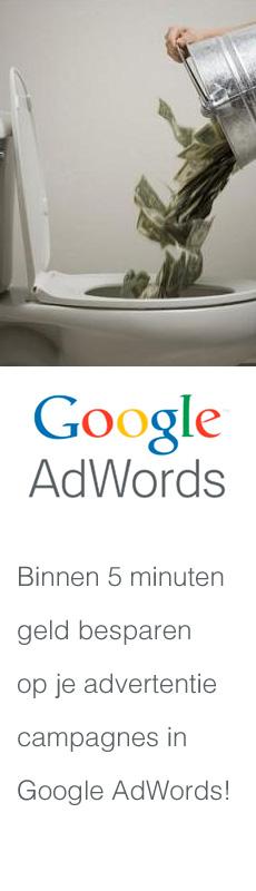 geld besparen met Google Adwords optimalisatie